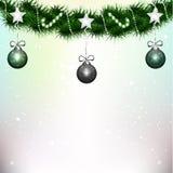 圣诞树的装饰 免版税库存照片