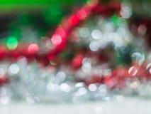 从圣诞树的迷离背景 免版税库存照片