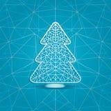 圣诞树的风格化例证 免版税库存照片