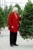 圣诞树的高级购物 免版税库存照片