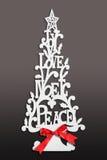 圣诞树看板卡 库存照片