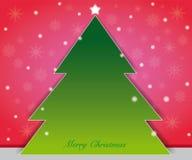 圣诞树看板卡 免版税库存照片