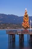 圣诞树码头 免版税图库摄影