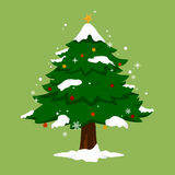圣诞树简单的树 库存图片