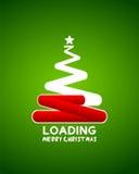 圣诞树网装载者等待的概念 向量例证
