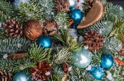 圣诞树背景特写镜头 免版税库存照片