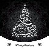 圣诞树背景 免版税库存照片