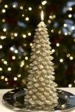 圣诞树蜡烛 免版税库存图片