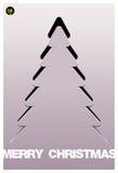 圣诞树补花向量背景。 免版税库存图片