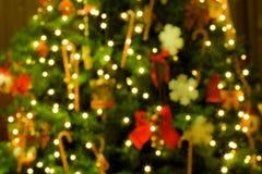 圣诞树被弄脏的背景 免版税库存图片