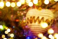 圣诞树被弄脏的闪耀的背景 免版税图库摄影