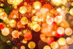 圣诞树被弄脏的闪耀的背景 库存照片