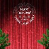 圣诞树装饰卡片 库存照片