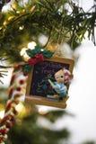 圣诞树装饰品老鼠老师 库存图片