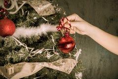 圣诞树装饰品 图库摄影