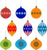 圣诞树装饰品Illustartions 库存照片