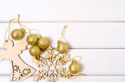 圣诞树装饰圣诞树天使雪花 免版税库存图片
