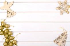圣诞树装饰圣诞树天使雪花 免版税库存照片