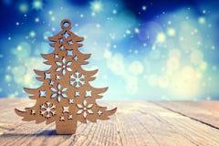 圣诞树装饰背景 库存照片