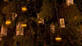 圣诞树装饰背景 股票视频