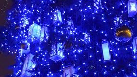 圣诞树装饰背景 影视素材