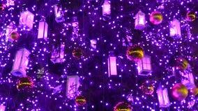 圣诞树装饰背景 股票录像