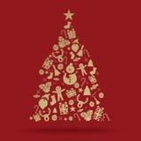 圣诞树装饰象 免版税库存图片