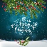圣诞树装饰邀请04 皇族释放例证
