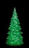圣诞树装饰,一根绿色冷杉木 库存照片