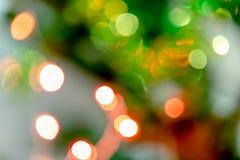 圣诞树迷离bokeh背景 免版税图库摄影