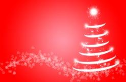 圣诞树闪闪发光不可思议闪烁的雪 库存照片