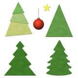 圣诞树集 免版税库存图片
