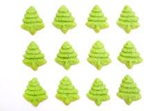 圣诞树饼干 免版税库存图片