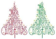 圣诞树,向量 免版税库存图片