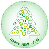 圣诞树,抽象设计 库存图片