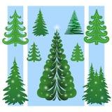 圣诞树,集 皇族释放例证