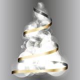 圣诞树2015年丝带传染媒介背景 免版税库存图片