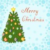 圣诞树贺卡 免版税库存图片