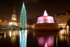 圣诞树2016年特拉法加广场伦敦 免版税库存照片