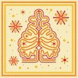 圣诞树玻璃珠 免版税库存图片