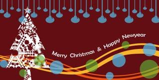 圣诞树&祝福 免版税库存照片