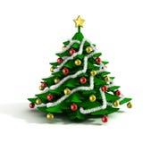 圣诞树3d例证 库存照片