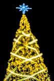 圣诞树bokeh ligh 免版税图库摄影