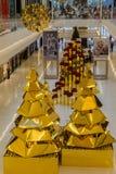 圣诞树JK购物中心圣保罗 库存照片