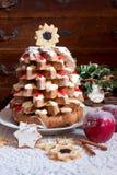 圣诞树Pandoro 免版税库存图片