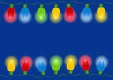 圣诞灯向量 免版税库存图片