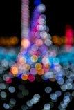 圣诞灯和抽象bokeh迷离背景 免版税库存图片