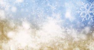 圣诞灯和雪花被弄脏的bokeh背景  库存图片