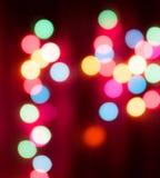 圣诞灯和bokeh 免版税库存图片