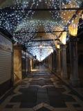 圣诞灯在威尼斯 免版税库存图片